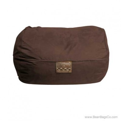 6- Foot Microsuede Bean Bag Chair - Mod Pod Classic Chocolate Lounger