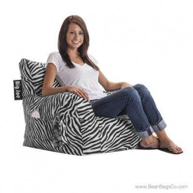 Big Joe Bean Bag Dorm Chair - Zebra