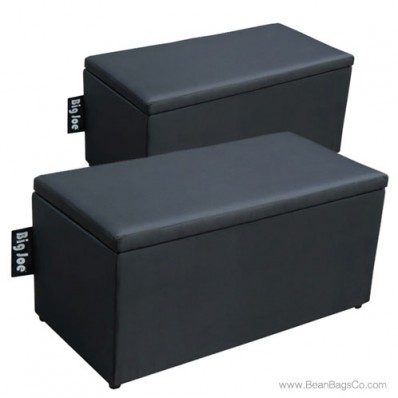 Big Joe 2 in 1  Bean Bag Chair Bench Ottoman - Stretch Limo Black
