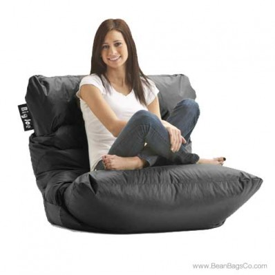 Big Joe Roma Bean Bag Chair - Stretch Limo Black