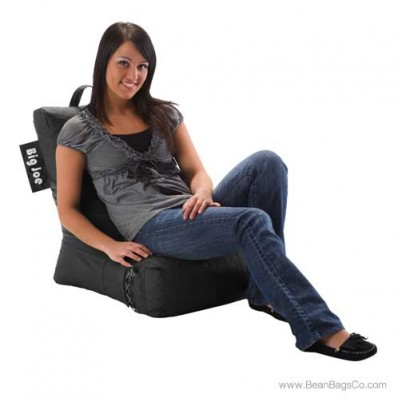Big Joe Video Bean Bag Chair - Stretch Limo Black Lounger