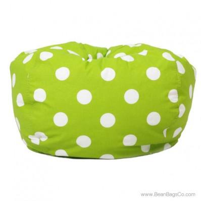 Classic Bean Bag Chair - Chartreuse w/ White Dots