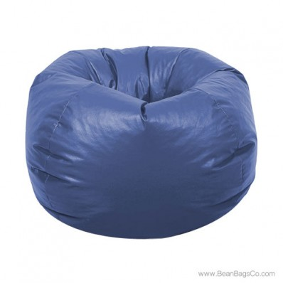 Classic Vinyl Bean Bag Chair - Royal Blue