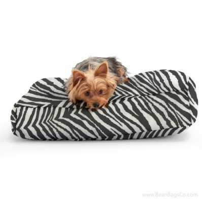 Wuf Fuf Twill Bean Bag Pet Bed - Tunisia Black