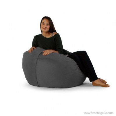 Jaxx Classic Saxx 3 ft Bean Bag, Charcoal Microsuede