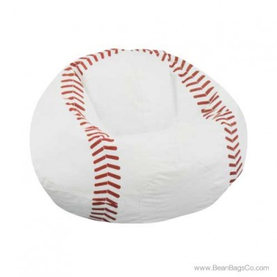 Junior Vinyl Pure Bead Sports Bean Bag Chair - Baseball