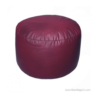 Lifestyle Bigfoot Footstool Mixed Bead Bean Bag - PVC Vinyl Burgundy