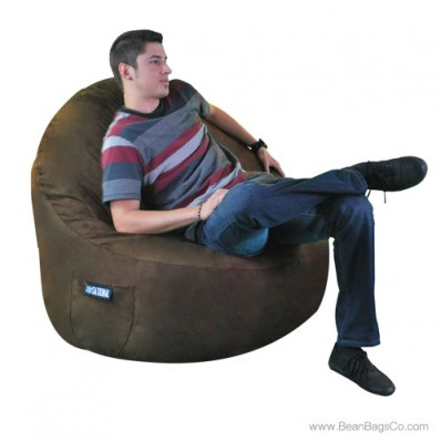 1- Seater Sitsational Lounger- Soft Suede Chocolate Brown Bean Bag Chair