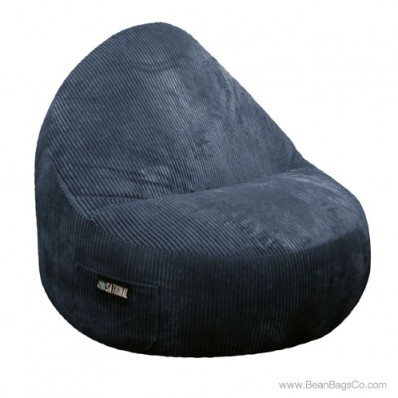 1- Seater Sitsational Bean Bag Chair - Deluxe Cord Midnight Lounger
