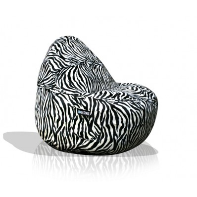 1- Seater Sitsational Bean Bag Chair- Zebra Animal Print Lounger