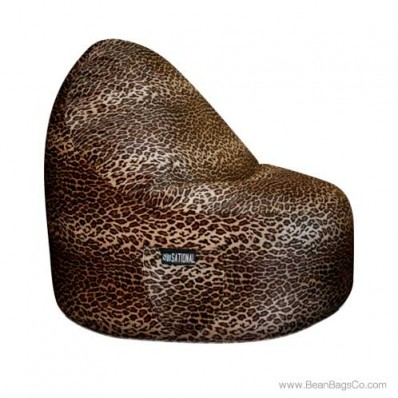 2- Seater Sitsational Bean Bag Chair- Leopard Animal Print Lounger