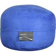 4- Foot Single Seater Mod Pod Bean Bag Chair- Soft Suede Royal Blue Lounger