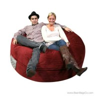 5- Foot Mod Pod Classic Bean Bag Chair - Deluxe Cord Berry Lounger