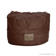5- Foot Mod Pod Classic Bean Bag Chair- Soft Suede Chocolate Lounger
