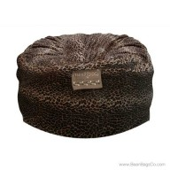 5- Foot Mod Pod Classic Bean Bag Chair - Leopard Animal Print Lounger