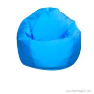 Small Classic Bean Bag Chair - PVC Vinyl Blue