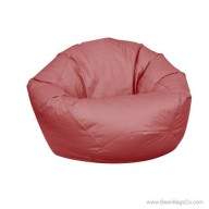 Small Classic Bean Bag Chair - PVC Vinyl Burgundy