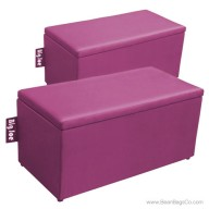 Big Joe 2 in 1  Bean Bag Chair Bench Ottoman - Pink Passion