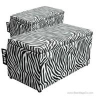 Big Joe 2 in 1  Bean Bag Chair Bench Ottoman - Zebra Print