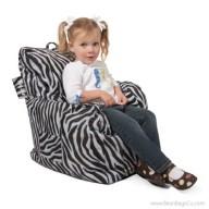 Big Joe Cuddle Bean Bag Chair - Zebra