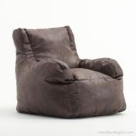Big Joe Lusso Bean Bag Chair - Sable Faux Leather