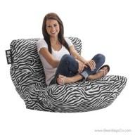 Big Joe Roma Bean Bag Chair - Zebra
