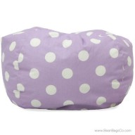 Classic Bean Bag Chair - Purple w/ White Dots