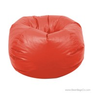 Classic Vinyl Bean Bag Chair - Ruby Red