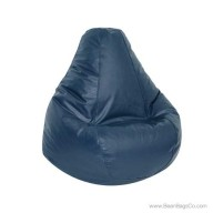 Lifestyle Extra Large Pure Bead Bean Bag Chair - Navy Blue