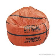 Junior Vinyl Pure Bead Sports Bean Bag Chair - Basketball