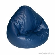 Lifestyle Pure Bead Large Bean Bag Chair- Navy