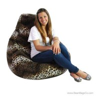 Soft Velvet Pure Bead Bean Bag Chair - Animal Print