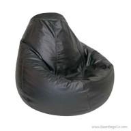Lifestyle Pure Bead Bean Bag Chair - PVC Vinyl Black