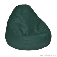Lifestyle Pure Bead Bean Bag Chair - PVC Vinyl Spruce Green