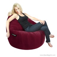 1- Seater Sitsational Bean Bag Chair- Deluxe Cord Lounger