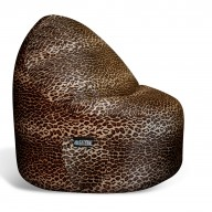 1- Seater Sitsational Bean Bag Chair- Leopard Animal Print Lounger
