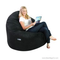 2- Seater Sitsational Bean Bag Chair- Deluxe Cord Black Lounger