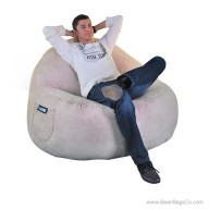 2- Seater Sitsational Bean Bag Chair- Soft Suede Light Brown Lounger