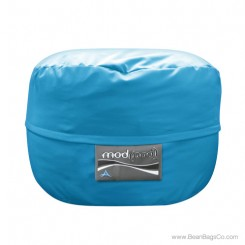 3- Foot Junior Mod Pod Bean Bag Chair- Aqua Poly Cotton Lounger
