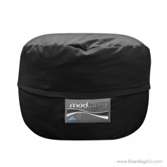 3- Foot Junior Mod Pod Bean Bag Chair- Poly Cotton Black Lounger