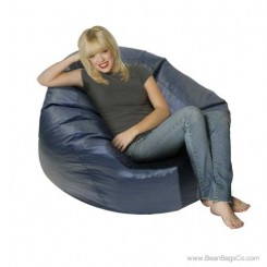 Jumbo Classic PVC Vinyl Bean Bag Chair - Navy