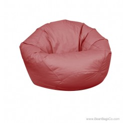 Large Classic Bean Bag Chair - PVC Vinyl Burgundy