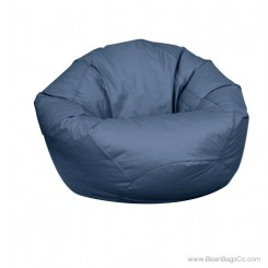 Large Classic PVC Vinyl Bean Bag Chair - Navy