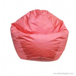 Small Classic Bean Bag Chair - PVC Vinyl Rose
