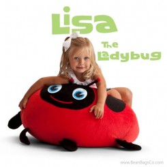 Bean Bagimals Bean Bag Chair - Lisa the Ladybug