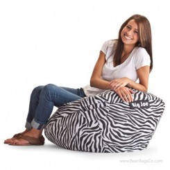 "Big Joe 98"" Bean Bag Chair - SmartMax Zebra"