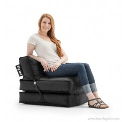 Big Joe Flip Bean Bag Chair - SmartMax Stretch Limo Black Lounger