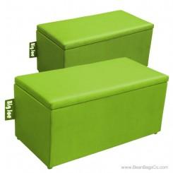 Big Joe 2 in 1  Bean Bag Chair Bench Ottoman - Spicy Lime