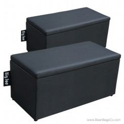 Big Joe 2 in 1  Bean Bag Chair Bench Ottoman - Stretch Limo Black