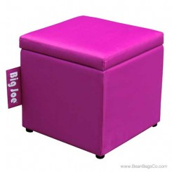 "Big Joe 15"" Square Ottoman Bean Bag Chair - Pink Passion"